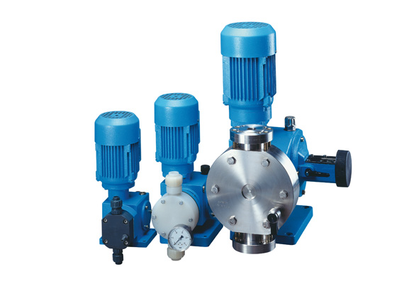 Different pump types with specific equipment